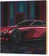 Mazda Rx Vision 2015 Painting Wood Print