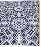 Maze Pattern Wood Print