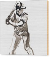 Mbl Batter Up Wood Print