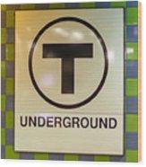 Mbta Underground Wood Print