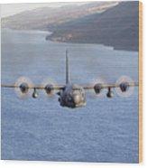 Mc-130h Combat Talon II Over Loch Ness Wood Print