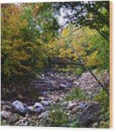Mcarthur Bridge Over The Roaring Branch Wood Print
