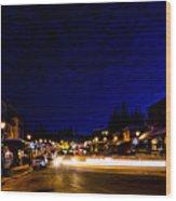 Mccall Road Night Wood Print