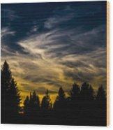 Mccall Sky Night Wood Print