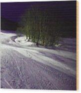 Mccauley Evening Snowscape Wood Print