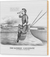 Mcclellan The Gunboat Candidate Wood Print
