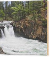 Mccloud Lowerfalls Wood Print