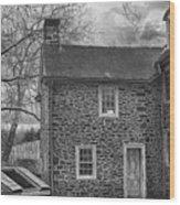 Mcconkey Ferry Inn Black And White Wood Print