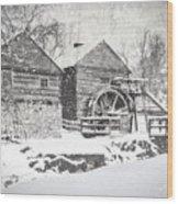 Mccormick's Farm February 2012 Series Vi Wood Print by Kathy Jennings