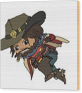 Mccree Usa Wood Print