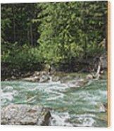 Mcdonald Creek Panorama Wood Print