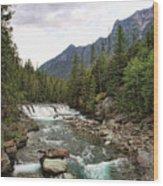 Mcdonald Falls - Glacier Wood Print