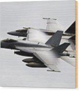 Mcdonnell Douglas F/a-18 Hornet Wood Print