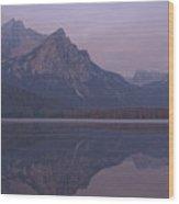 Mcgowen Peak At Sunrise Wood Print