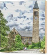 Mcgraw Tower Cornell University Ithaca New York Pa 10 Wood Print