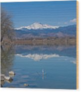 Mcintosh Lake Reflections Wood Print