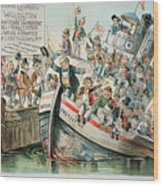 Mckinley Cartoon, 1896 Wood Print
