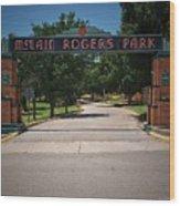 Mclain Rogers Park Wood Print