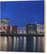 Mclane Stadium Evening Wood Print