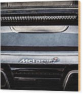 Mclaren 12c Spider Rear Emblem -0106ac Wood Print