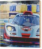 Mclaren Bmw F1 Gtr Gulf Team Davidoff Le Mans 1997 Wood Print by Yuriy  Shevchuk
