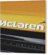 Mclaren Wood Print