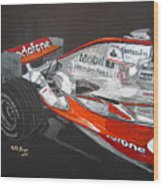 Mclaren F1 Alonso Wood Print