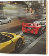 Mclaren F1 Gtr With Speciale And Integrale And 918 Wood Print