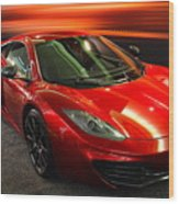 Mclaren Mph-12c Sportscar Wood Print by Wingsdomain Art and Photography