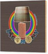 Mconomy Rainbow Brick Lamp Wood Print