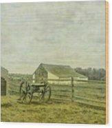 Mcpherson Barn And Cannon Gettysburg  Wood Print