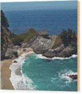 Mcway Falls In Big Sur Wood Print