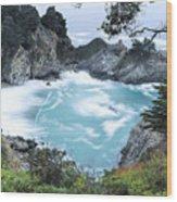 Mcway Falls Wood Print
