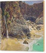 Mcway Falls On The California Coast Wood Print