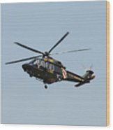 Md State Police Helicopter Wood Print