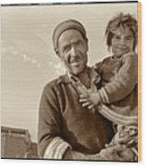 Me And Grandpa, Iran  Wood Print