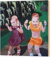 Me And Marg Wood Print