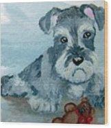 Me And My Teddy Wood Print