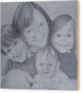 Me And The Grands Wood Print