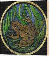 Meadow Frog Wood Print by Anna Folkartanna Maciejewska-Dyba