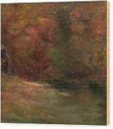 Meadow In Fall Wood Print
