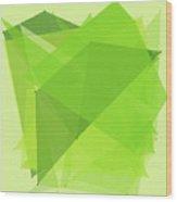 Meadow Polygon Pattern Wood Print