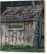 Meadow Shelter Wood Print