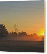 Meadow Sunrise Wood Print