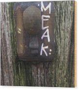 M.e.a.k. Wood Print