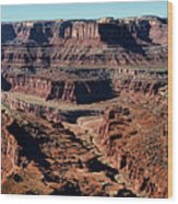 Meander Overlook - Dead Horse Point - Panorama Wood Print