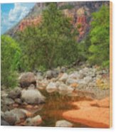Meandering Oak Creek Canyon Wood Print