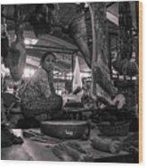 Meat Market Wood Print