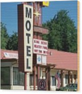Mecca Motel Wood Print