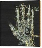 Mechanical Hand Wood Print